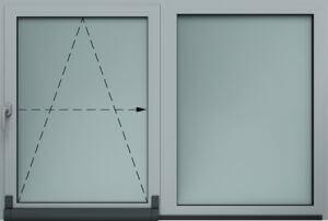 Okucie uchylno-przesuwne(PSK/Patio)w oknach PCV Kraków