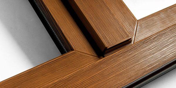 Okna PCV Kraków z okleiną Real Wood - realistyczne drewno