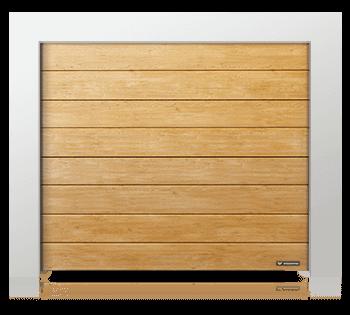 bramy garażowe Kraków w kolorze drewna